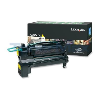 LEXMARK C792 PRINT CARTRIDGE YELLOW RP 20K